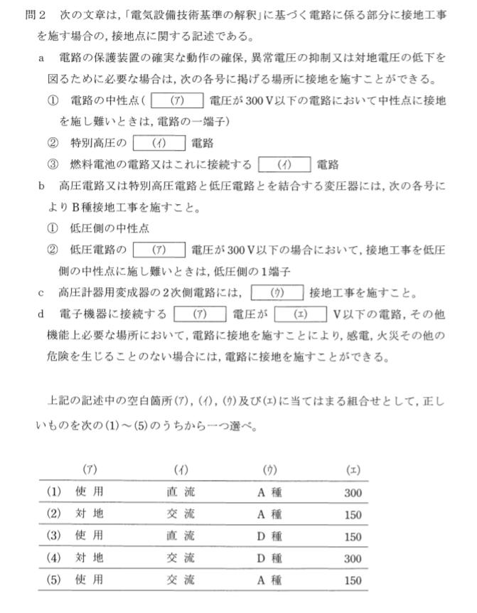 電験三種 法規の難易度1