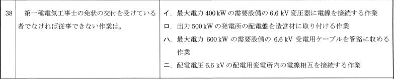 第一種電気工事士 筆記試験の過去問題4