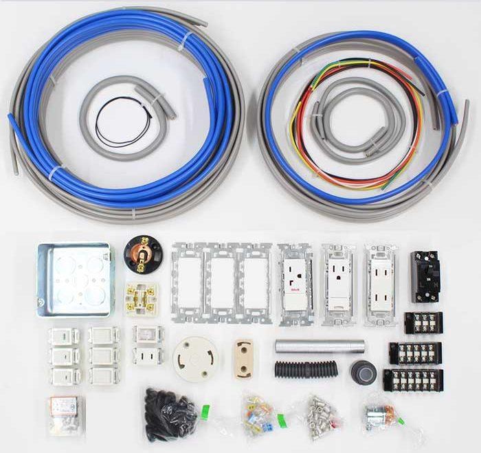 第一種電気工事士技能試験の器具と材料セット