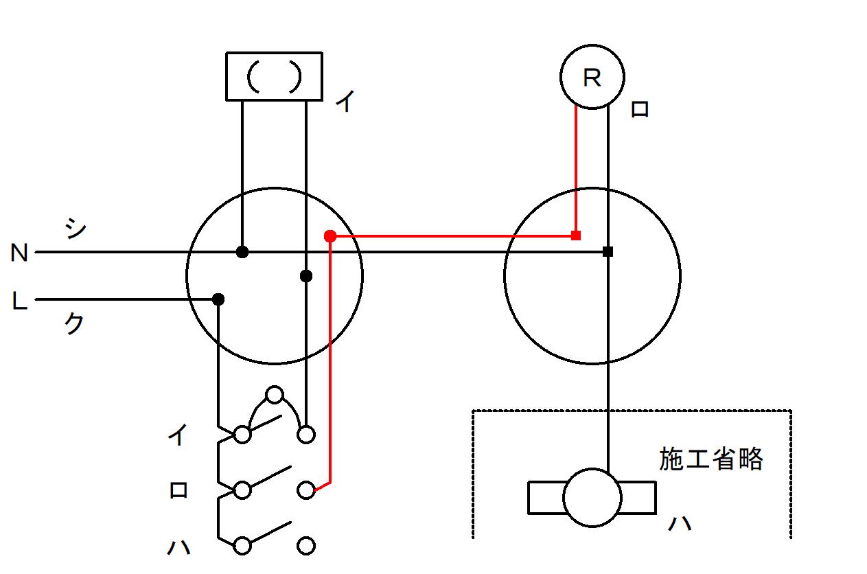 ロ:スイッチとランプレセプタクル