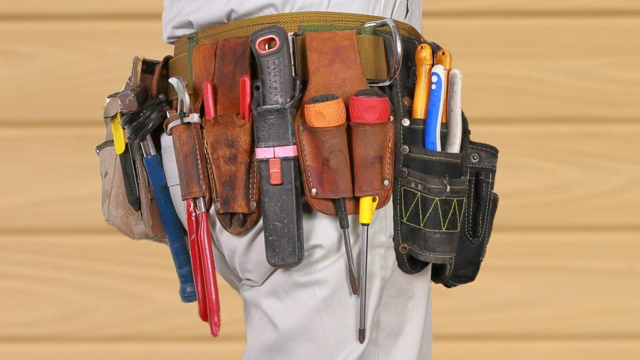 腰袋は電気工事士には絶対に必要