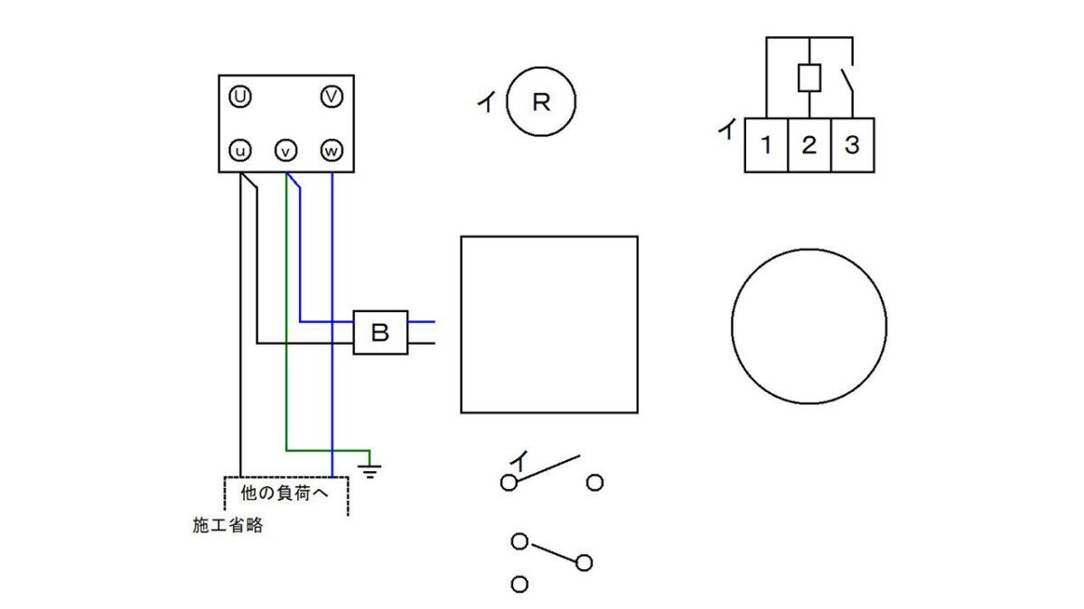 手順3:電源線とブレーカーを接続