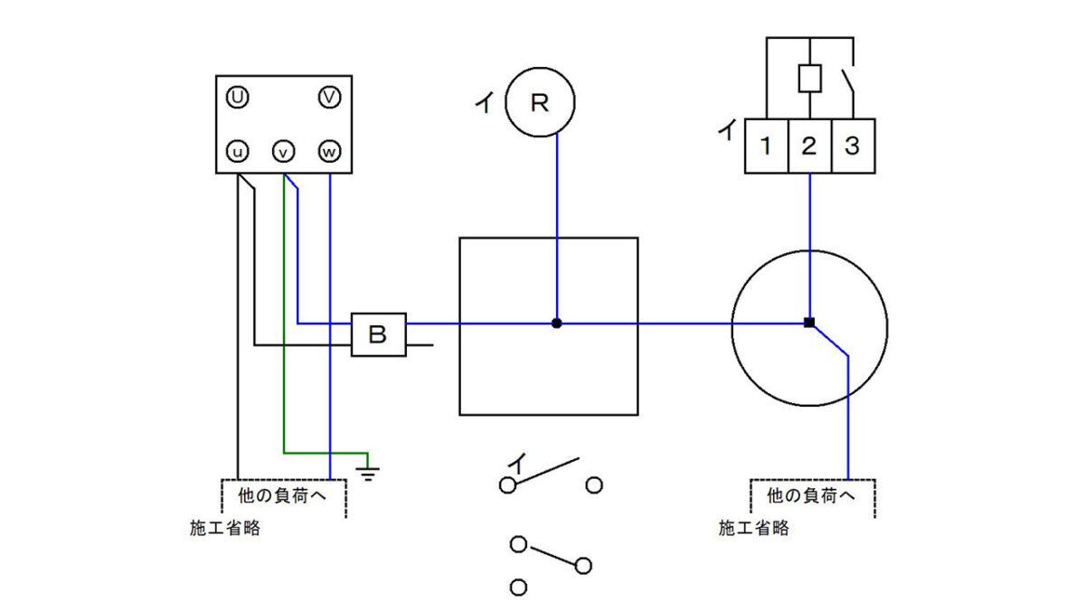 手順4:電源の接地側と該当する器具を接続