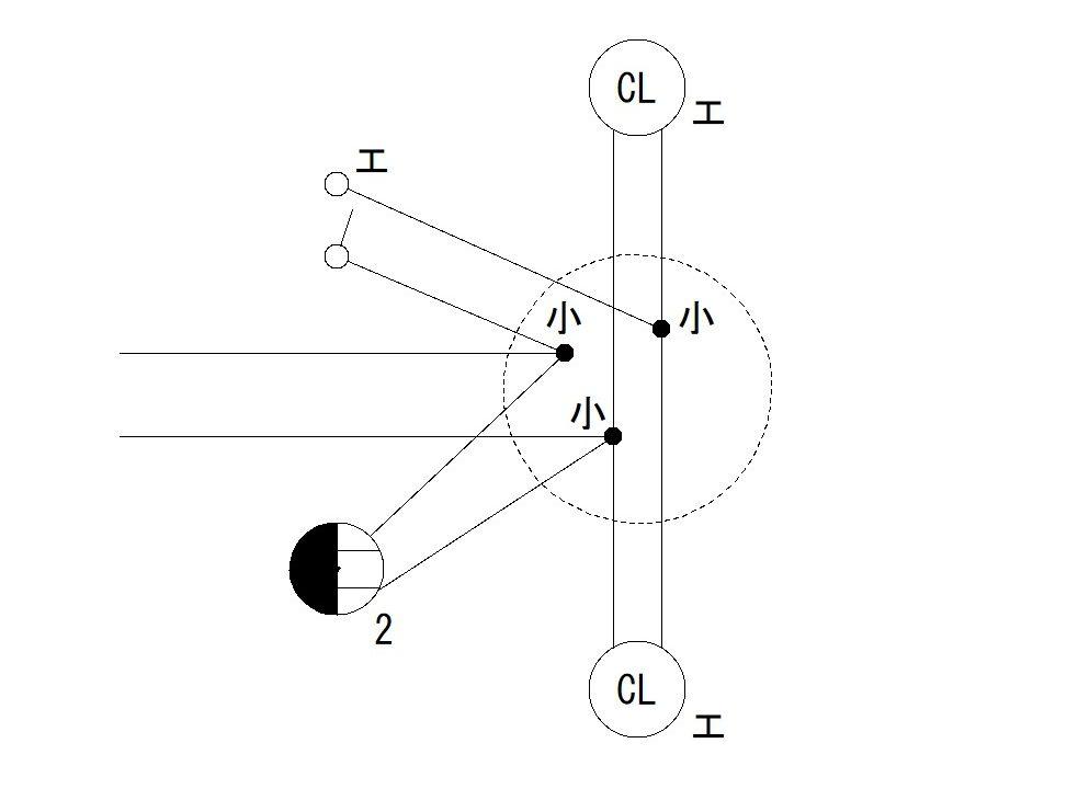 平成30年度第二種電気工事士上期試験問41の複線図
